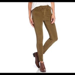 Free People Women's Jeans 27 Corduroy Army Green